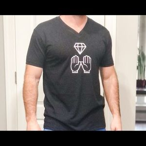 Diamond Hands V Neck Shirt Unisex Mens